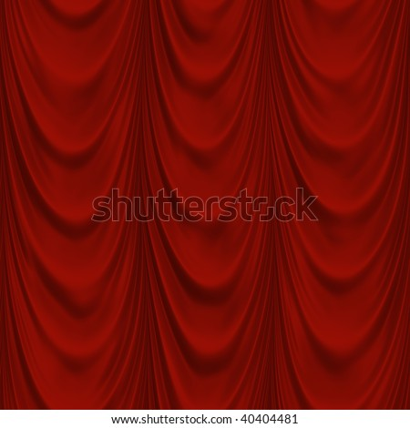 Seamless red fabric drapes