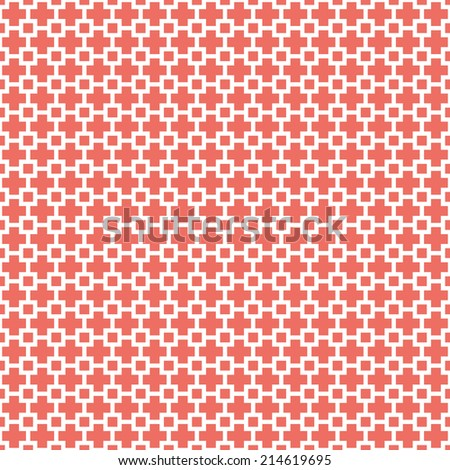 Seamless red squares geometrical pattern