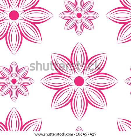 Seamless Repeating Flower Pattern