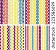 Seamless retro geometric pattern. Vector version available in my portfolio - stock photo