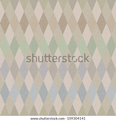 Seamless retro harlequin background in pastel colors - stock photo