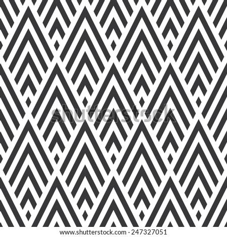 Seamless rhombic chevrons art deco pattern - stock photo