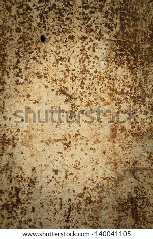 Seamless Rust Texture as Rusted Metal Background - stock photo
