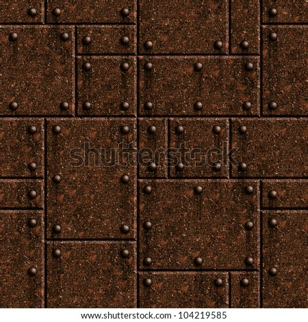 Seamless rusty armor texture background.  See more seamlessly backgrounds in my portfolio. - stock photo