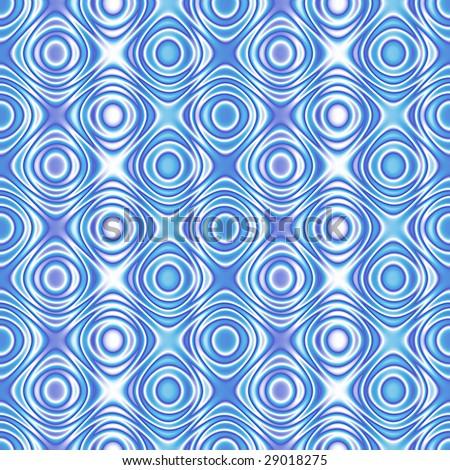 seamless 70s wallpaper blue - stock photo