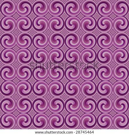 seamless 70s wallpaper purple - stock photo