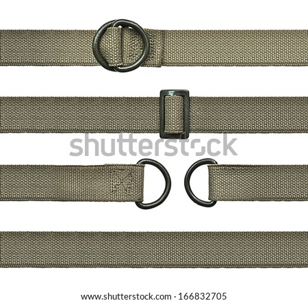 Seamless Set of khaki straps