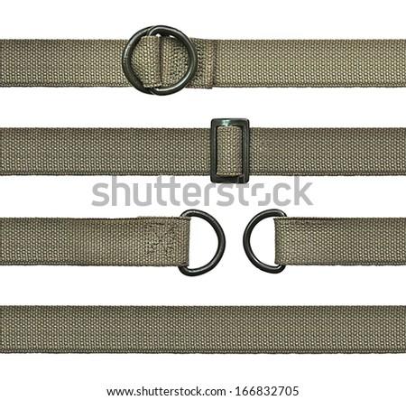 Seamless Set of khaki straps - stock photo