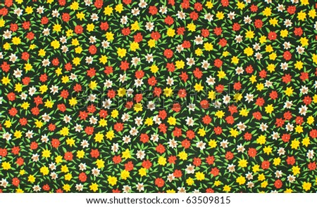 Seamless small flower background - stock photo