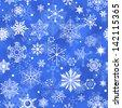 Seamless Snowflake Pattern - stock