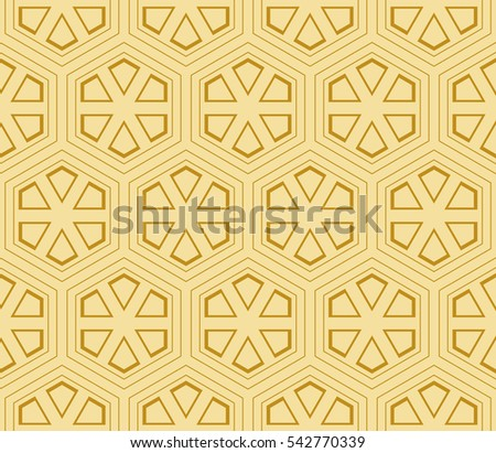 seamless sophisticated geometric pattern based on repetitive simple forms. raster illustration. for interior design, backgrounds, card, textile industry. gold color