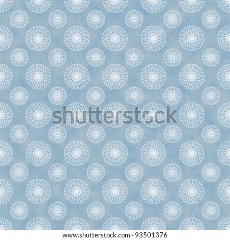 Seamless Spirals Background Blue & White - stock photo