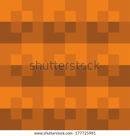 Seamless square pattern orange color - stock photo