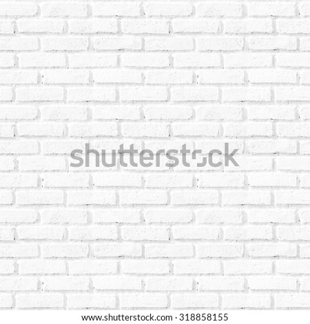 Seamless square white brick wall background. City Interior Clay Art Back Row New Modern Retro Old Texture Design Frame Home Rock Path Grey Gray Pool Room Bath Floor Tile Solid Clean Pure Empty Pattern - stock photo