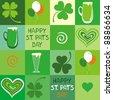 Seamless St.Patrick's day background - stock photo