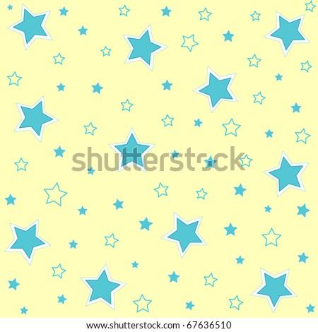 Seamless stars pattern background - stock photo