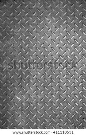 Seamless steel diamond plate - stock photo