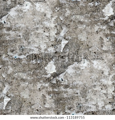 seamless stone old gray texture wall with crack background - stock photo