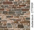 Seamless stone wall texture. (Original: #1267569) - stock photo