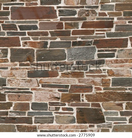 Seamless stone wall texture. (Original: #1267569) - stock photo