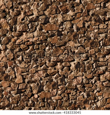 Seamless stony wall texture background. - stock photo
