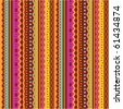 Seamless stripes and laces retro syle pattern of autumn colors ( for vector EPS see image 61434877 )  - stock photo