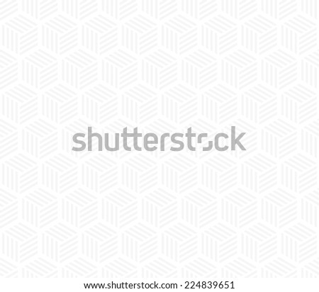Seamless subtle gray hexagons with stripes pattern - stock photo