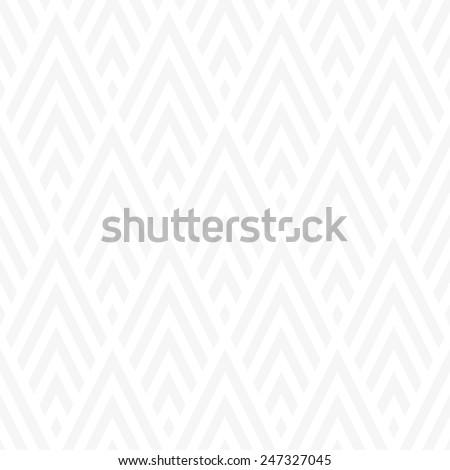 Seamless subtle gray rhombic chevrons art deco pattern - stock photo