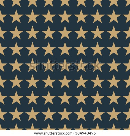 Seamless tan blue and brown fashion stars pattern