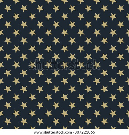 Seamless tan blue and brown stars pattern