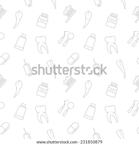 Seamless teeth  pattern on white background