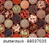 Seamless texture background of spices - stock