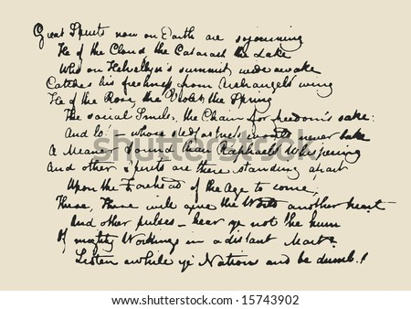Seamless  texture based manuscript letter - stock photo