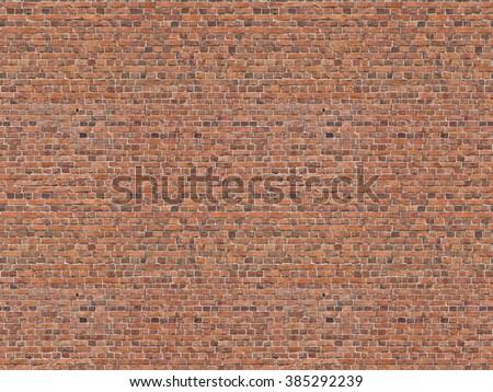 seamless texture brick wall - stock photo