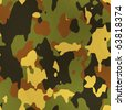 Seamless Texture camouflage material - stock photo