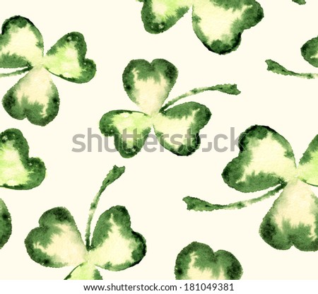 seamless texture clover green - stock photo