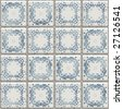 seamless texture Delft tiles - stock photo