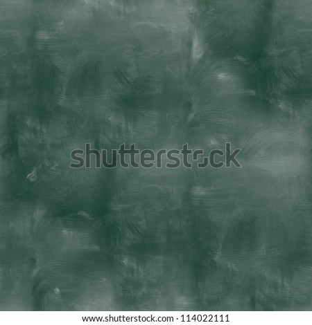 seamless texture empty green chalkboard with chalk traces - stock photo