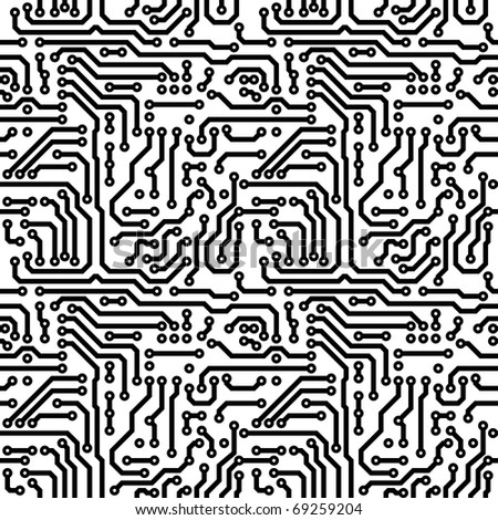 Seamless texture - graphics on the theme electrical - stock photo