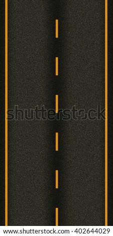 seamless texture highway - stock photo