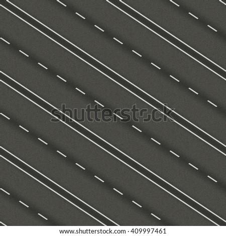 seamless texture highway asphalt - stock photo