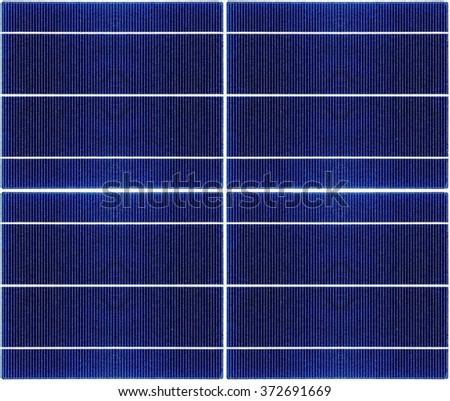 seamless texture of a solar panel closeup - stock photo