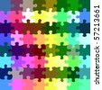 seamless texture of bright jigsaw parts - stock photo