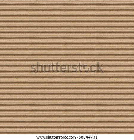 seamless texture of brown corrugate cardboard - stock photo