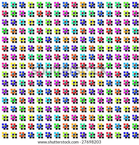 seamless texture of colorful abstracted flowers and hard shadows