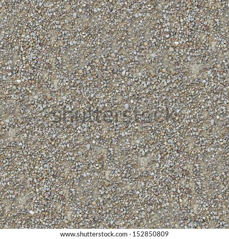 Seamless Texture of Country Road of Small Gravel.