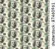 Seamless texture of dollars - stock photo