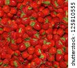 Seamless texture of juicy strawberries. - stock photo