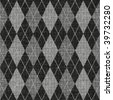 seamless texture of knitted wool gingham squares in grey - stock photo