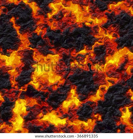 Seamless texture of lava. Wallpaper or background.  - stock photo
